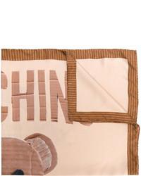 Bufanda marrón claro de Moschino