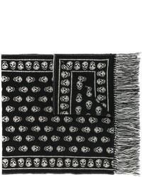 Bufanda negra de Alexander McQueen
