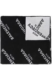 Bufanda negra de Balenciaga