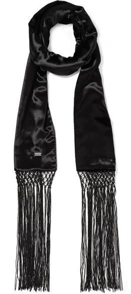 Bufanda Negra de Saint Laurent