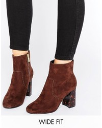 Asos Erin Wide Fit Heeled Ankle Boots