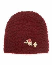 Abeilla cashmere beanie hat ruby medium 693771