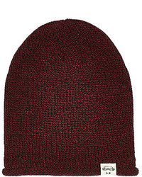 River Island Boys Dark Red Beanie Hat