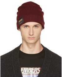 Burgundy members and non members only beanie medium 5081020