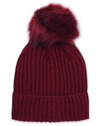 Burgundy Tonal Pom Beanie Hat