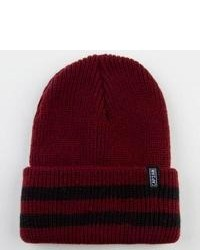 Captain Fin Captain Stripe Beanie Burgundy One Size For 226040320