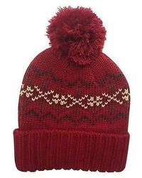 Concept One Boys Fairisle Beanie Red 8 16