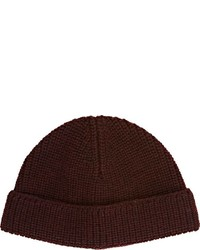 Lanvin English Rib Knit Beanie Red