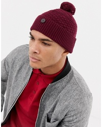 491bd67814b ... Ted Baker Multhat Bobble Beanie With Multi Stitch