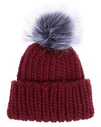 Eugenia Kim Rain Faux Fur Trimmed Wool Beanie