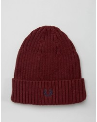 Fred Perry Ribbed Logo Beanie