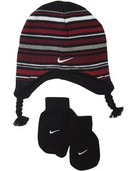 Nike Toddler Boy Marled Knit Beanie Mittens Set