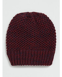 Topman Selected Homme Burgundy And Navy Beanie
