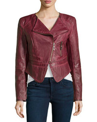 Burgundy biker jacket original 8876903
