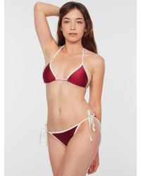 American Apparel Nylon Tricot Side Tie Bikini Bottom