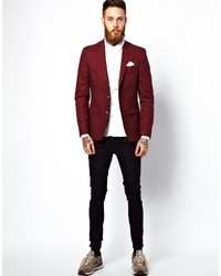 Asos Brand Slim Fit Blazer In Cotton | Where to buy & how to wear