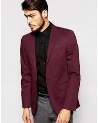 Men's Burgundy Blazers by Asos | Men's Fashion