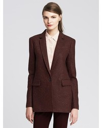 Banana Republic Burgundy One Button Blazer
