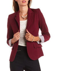 Collection Womens Burgundy Blazer Pictures - Reikian