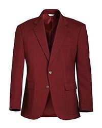 Edwards Garment Ed Garts Classic Two Button Single Breasted Blazer Burgundy 36