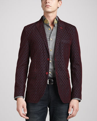 Bogosse Jacquard Francesco Sport Jacket Burgundy | Where to buy ...