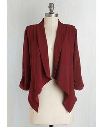 Blu Pepper Marketing Maven Blazer In Burgundy