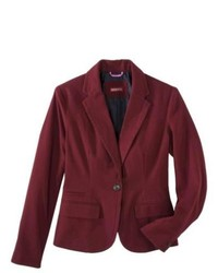 Merona Oxford Blazer Dark Red 12
