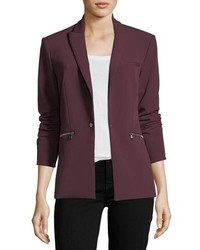 Veronica Beard One Button Tailored Scuba Blazer