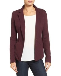 Petite Caslon Knit One Button Blazer