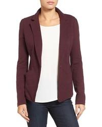 Petite caslon knit one button blazer medium 1055296