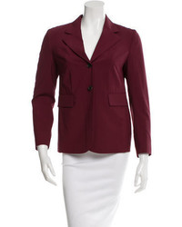 Prada Sport Virgin Wool Notched Lapel Blazer