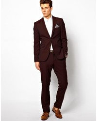 Peter Werth Suit Jacket In Burgundy | Where to buy & how to wear