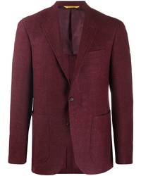 Canali Textured Single Breasted Blazer