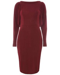 Dorothy Perkins Berry Red Batwing Bodycon Dress