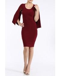 Burgundy Fly Away Sleeve Dress