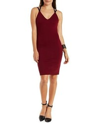 Charlotte Russe Strappy Color Block Bodycon Dress