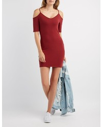 Charlotte Russe Cold Shoulder Bodycon Dress