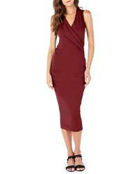 Michael Stars Faux Wrap Midi Dress