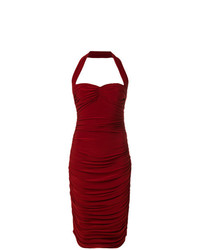 Norma Kamali Halter Neck Bill Dress