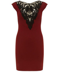 Dorothy Perkins Jolie Moi Burgundy Lace Front Dress