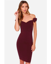 LuLu*s Lulus Way To Bow Off The Shoulder Black Dress