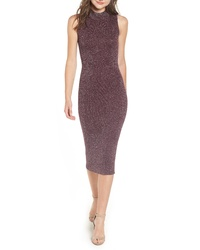 Chelsea28 Metallic Ribbed Body Con Dress