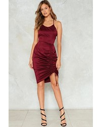 Nasty Gal Nastygal Fools Ruche In Bodycon Dress