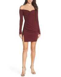 Katie May Off The Shoulder Ruched Cocktail Sheath