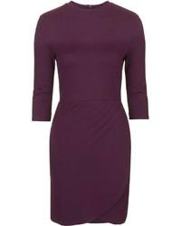 Petite Wrap Ponte Bodycon Dress
