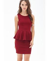 Forever 21 Textured Bodycon Peplum Dress