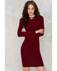Nasty Gal To Be Divine Ribbed Mini Dress
