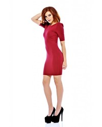 AX Paris Wire Shoulder Bodycon Burgundy Dress Online