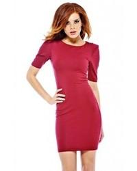 AX Paris Wire Shoulder Bodycon Burgundy Dress Online