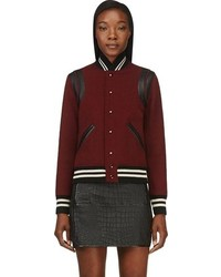 Burgundy bomber jacket original 4528817